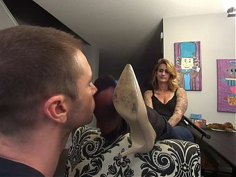 Cheering Me Up By Licking My Sweaty Nylon Soles! HD PREVIEW