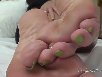POV Foot Tease with Green Toes