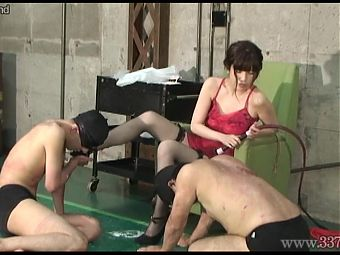 Japanese Femdom Shoe Licking and Worship