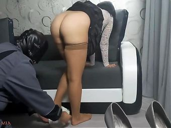 Mistress comes back from the street