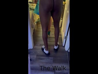 Hotwife Wearing Clear High Heel Platform Shoes for Her Lover